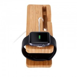 Station de charge en bois pour Apple Watch et iPhone