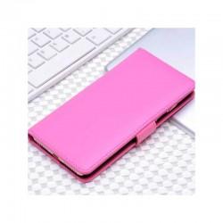 Etui portefeuille en simili cuir pour iPhone 7 ou iPhone 8 Fuchsia